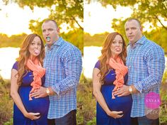 They just spotted a COYOTE! #maternity #pregnancy #photo #session #shoot #twins