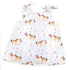 Girls Dress with Ponies Western Girl Outfits, Children Dress, Special Girl, Handmade Items, Handmade Gifts, Western Cowboy, Tie Dress, Clothes Horse, Gifts For Girls