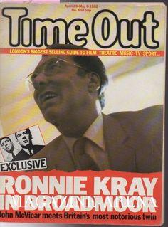 RONNIE KRAY INTERVIEW - THE KRAYS SCARCE TWINS  1980S  - UK WEEKLY MAGAZINE -