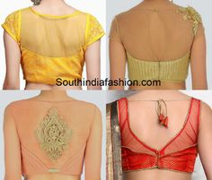 net blouse designs for sarees