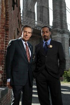 Lennie and Ed. Jerry Orbach and Jesse L. Martin, Law and Order