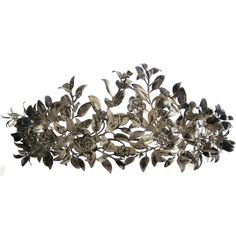 """Victorian Silver Wedding Tiara Victorian  -  A pretty 19th century tiara. The silver handcrafted leaves and flowers with a natural patina throughout the crown. The """"language of flowers """"was an important part of 19th century courtship and ritual. This wedding crown is a sentimental tribute to a timeless tradition of everlasting love and betrothal."""