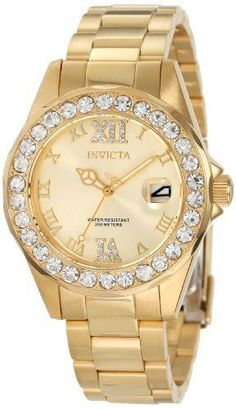 f9653ab5dc9 NEW Invicta Women s 15252 Pro Diver Gold Dial Gold-Plated Stainless Steel  Watch  Invicta