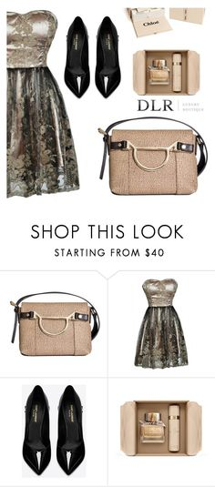 """DLRBOUTIQUE.COM"" by edy-dream ❤ liked on Polyvore featuring Borbonese, Yves Saint Laurent, Burberry and Chloé"