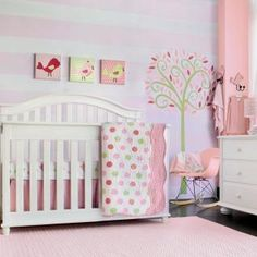 Create a nursery with a customized look. Featuring a mix of classic and contemporary prints in bold colors, the Cocalo Audrey Mix and Match Collection offers crib bedding essentials as well as room decor items that will add a fun, finishing touch. Available as a set or in different mix & match combinations. The possibilities are endless.