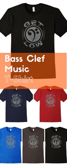 Funny bass clef music t-shirt makes a great music gift idea. A bestseller for sure!