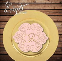 Charger Monogram Insert by Eventsbyicandy on Etsy, $1.00