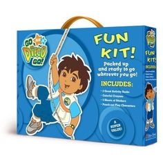 Go Diego Go Fun Kit with Activity Books, Crayons, Stickers & Punch-Out Play Characters by Nick Jr.. $69.99. Go Diego Go Carrying Case with Handle. Punch-out Play Characters. 3 Sheets of Stickers. 3 Great Activity Books. Colorful Crayons. Packed and ready to go wherever you go! Race to the rescue with Diego, Alicia, Rescue Pack, and Click! This durable box with a handle is packed with everything you'll need for your adventure -- activity books, stickers, crayons...