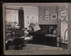 Gilded Age interior at: 207 Second Avenue, New York - May, c.1900.