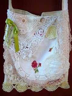 Boho Bag - Shabby Chic Bag - Gypsy Purse-  Shabby Chic Purse - Handmade Victorian Purse on Etsy, $52.00