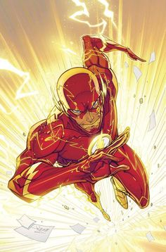 The Flash - Jonboy, Colours: John Rauch. I choose this image because I like the bright bold colours and the body pose.