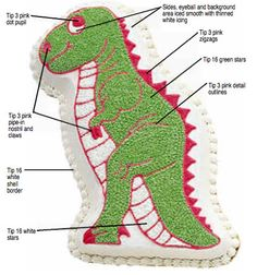 Wilton Partysaurus Dinosaur T Rex Cake Pan 2105 1280  EBay