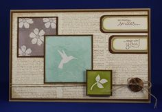 Card made with Bloomin Marvelous, Stampin up.