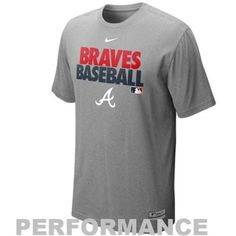 When your Braves hit the field: it's totally fine for you to lose your composure and cheer at the top of your lungs. Now: just make sure you stay cool and fresh in this Nike Graphic Dri-FIT cotton performance tee! Featuring Nike's patented Dri-FIT technology to wick moisture : and therefore heat: away from your skin: youll stay cool and comfortable even at those hot Atlanta summer games. With printed Braves Baseball lettering and a team wordmark splashed across the front: this tee will set…