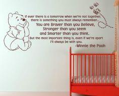 Winnie the Pooh babies room mural