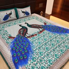 Jaipur Nagri 150 TC Cotton Double King Abstract Bedsheet