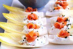 Witlof with smoked salmon