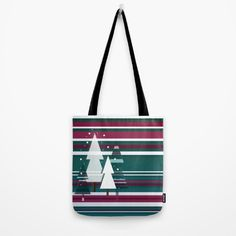 Christllax, the Pre-Xmas Art Tote Bag by weivy Presents For Friends, Makeup Pouch, My Themes, Good Cause, Mode Inspiration, Poplin Fabric, School Bags, Hand Sewn, Original Artwork
