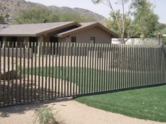 Modern Pool Fencing Contemporary Fence Exterior Garden Panels Metal F - getinterior. Country Fences, Rustic Fence, Front Yard Fence, Pool Fence, Australian Shepherds, Landscaping Along Fence, Backyard Landscaping, Diy Dog Fence, Pool Paving