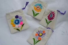Embroidery Works, Hand Embroidery Stitches, Hand Stitching, Embroidery Designs, Welcome Bags, Craft Bags, Purses And Bags, Coin Purse, Projects To Try