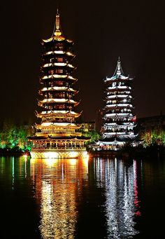 sun and moon temple, Guilin, china. I've seen this. It is gorgeous. Places Around The World, Oh The Places You'll Go, Travel Around The World, Places To Travel, Places To Visit, Around The Worlds, Wonderful Places, Beautiful Places, Vietnam