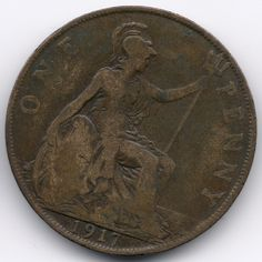 United Kingdom Penny 1917 Veiling in de Pennies,Brits,Munten,Munten & Banknota's Categorie op eBid België