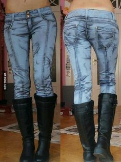 Jeans with the art style from Borderlands the video game