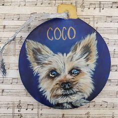 Yorkshire Terrier, Yorkie, Original Artwork, Owl, Bird, Christmas Ornaments, Animals, Instagram, Yorkshire Terriers
