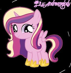 Filly Cadence  ^^really cadence was never born an alicorn, she was a Pegasuses then became one.