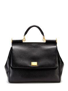 cd0f4e103b3b Dolce   Gabbana Large Miss Sicily Satchel Leather Satchel