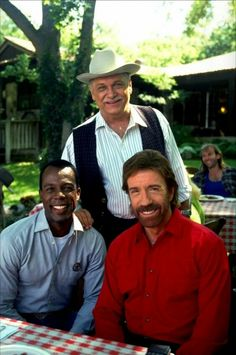 Chuck Norris with Clarence Gilyard and Noble Willingham. Chuck Norris, Polly Pocket, Walker Texas Rangers, Classic Cartoon Characters, Barbie, Star Wars, Great Tv Shows, Actors & Actresses, Favorite Tv Shows