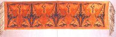 Art Deco Pander schoorsteenkleed / mantelpiece covering.