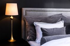 that continental feeling: soverommet vårt - Caroline Berg Eriksen Bedding Inspiration, Bedroom Inspo, Bed Pillows, Pillow Cases, House Plans, How To Plan, Feelings, Interior, Bedrooms