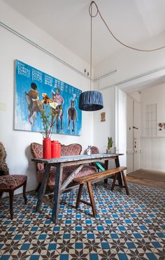 """cjwho: """"Interior design and decor for & by Atelier Karasinski A 150 squaremeter studio apartment located at the heart of Vienna, Austria. This whole apartment was refurnished on our own. The kitchen..."""