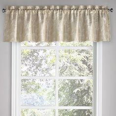 "Alcott Hill Denning Blackout Floral 52"" Curtain Valance Color:"