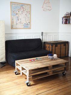 1000 ideas about table basse en palette on pinterest - Fabriquer une table basse avec des palettes ...