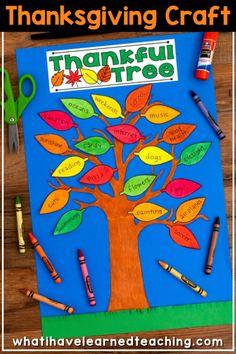 Thanksgiving Craftivity – Thankful Tree