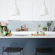 Love this kitchen made by Caravaggio, White Marble, Scandinavian Design, New Homes, Interior, Table, House, Inspiration, Furniture