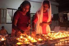 """dit is het Hindoestaanse lichtjes feest """"Divali"""""""