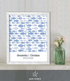 ♥ CLICK NOW TO SAVE 10% (Coupon code: PIN10) ▷ Wedding Guest Book Alternative Poster DIY // by JadeForestDesign