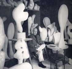 [ Jean Arp / Hans Arp September 1886 – 7 June was a German-French, or… Jean Arp, Plaster Sculpture, Art Sculpture, Sophie Taeuber Arp, Studios D'art, Marcel Duchamp, 3d Studio, Art Abstrait, Famous Artists