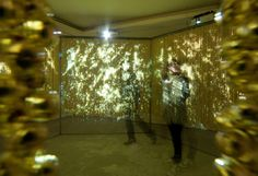Shimura Nobuhiro: 6 channel video projection on the 120,000 golden bells, Silent, Installation view at Taipei Artist Village