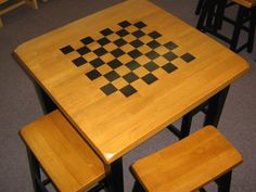 Chess table decal