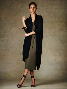 Extended Open Front Cardigan by Donna Karan on Gilt.com