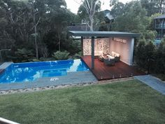 If you are working with the best backyard pool landscaping ideas there are lot of choices. You need to look into your budget for backyard landscaping ideas Small Backyard Pools, Backyard Pool Designs, Small Pools, Swimming Pools Backyard, Pool Landscaping, Backyard Patio, Small Backyards, Pool Spa, Pool Cabana