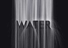 "Fukuoka-based Japanese motion graphic designer and 3D illustrator MountStar has created a wonderful animated typographic series named ""Hidden Typography"". These elegant, black and white animations feature digital representations of natural elements—i.e. wind, water, lightning and light—that gradually reveals hidden words as they progress. via DesignTAXI.com"