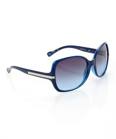 This Jessica Simpson Collection Navy Bedazzled Square Sunglasses by Jessica Simpson Collection is perfect! #zulilyfinds
