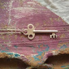 Sterling silver key necklace. Men key pendant. Women key pendant. Unisex gift.