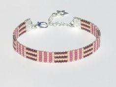 Bracelet tissé en perles Miyuki Delica - Mauzie : Bracelet par kasa