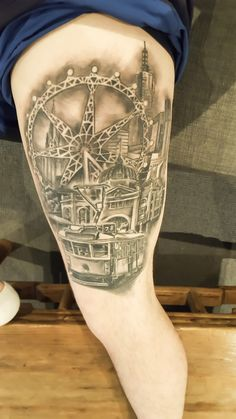 Melbourne themed tattoo
